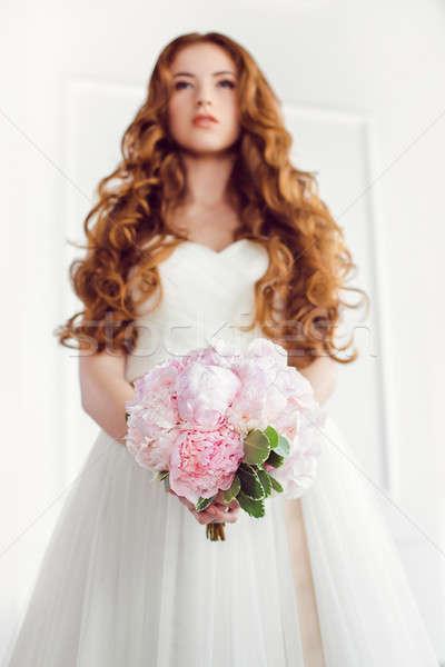 Сток-фото: букет · красивой · розовый · свадьба · цветы