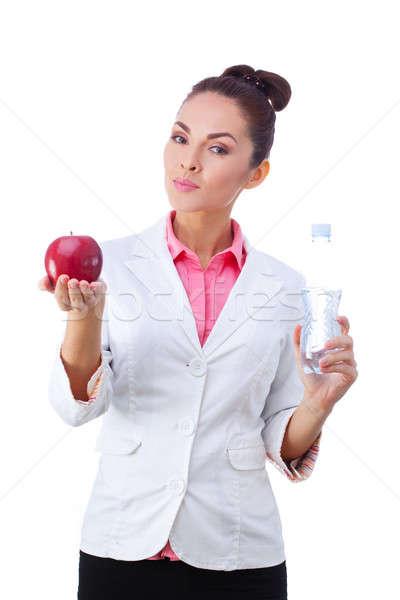 Arts voedingsdeskundige vrouw gezondheid voedsel Stockfoto © artfotodima