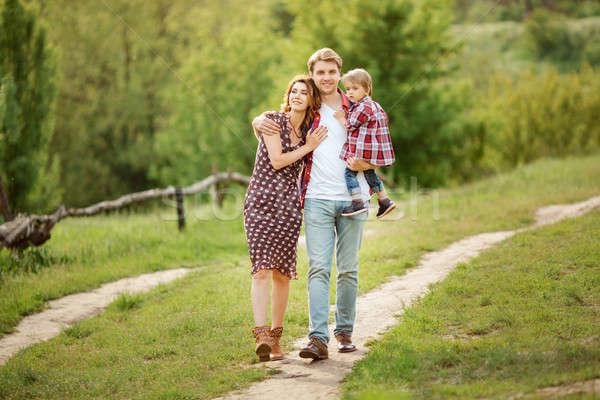ストックフォト: 夏 · 家族 · 写真 · 小さな