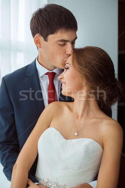 Noiva noivo casamento casal amor Foto stock © artfotodima