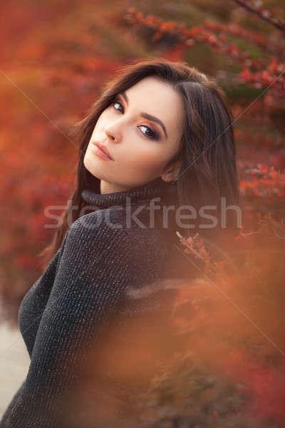 Foto stock: Outono · beleza · moda · modelo · menina