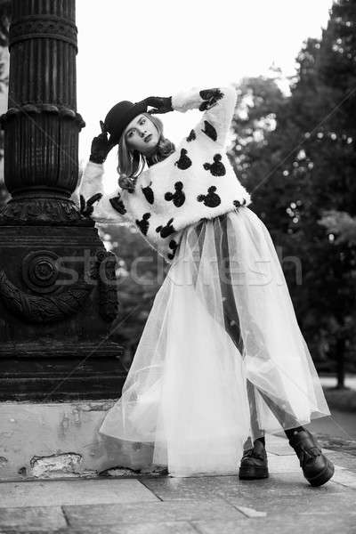 Stylish Retro Lady New Look. Photography portfolio. Stock photo © artfotodima