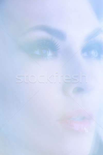 Portrait of young attractive women in the mystical haze. Stock photo © artfotodima