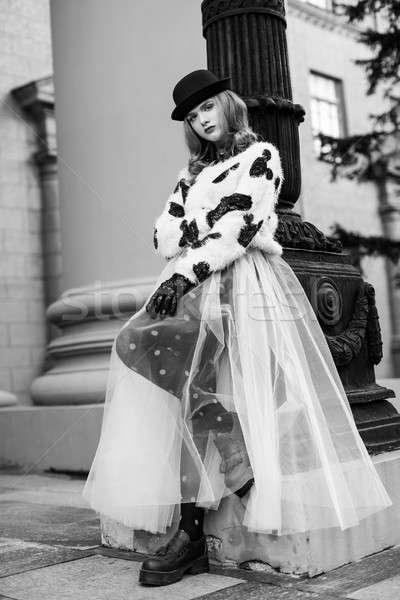 şık Retro bayan yeni bakmak fotoğrafçılık Stok fotoğraf © artfotodima