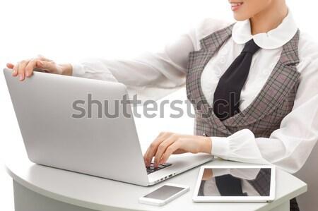 コンピュータ クローズアップ 腕 ビジネス女性 作業 ストックフォト © artfotodima