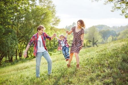 Stock photo: Happy Family on the Nature
