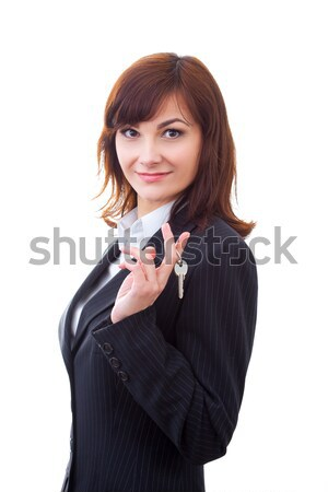adult realtor with keys in an apartment, it could be the tenant too Stock photo © artfotodima