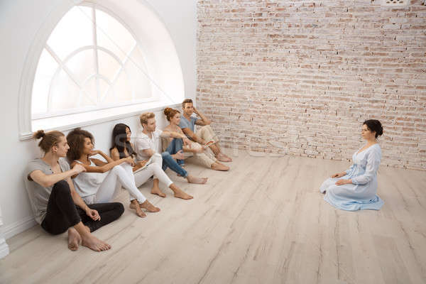 Group therapy session for couples Stock photo © artfotodima