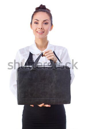 Confident Businesswoman With Briefcase. All isolated on white background. Stock photo © artfotodima