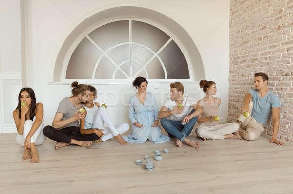 группа терапии пары доверия говорить из Сток-фото © artfotodima