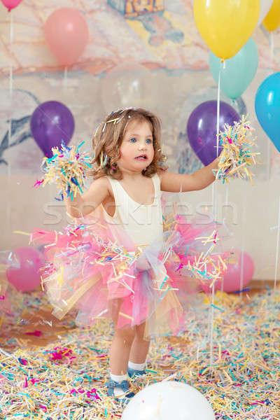 Dziecko urodziny matka dzień szczęśliwy młoda dziewczyna Zdjęcia stock © artfotodima