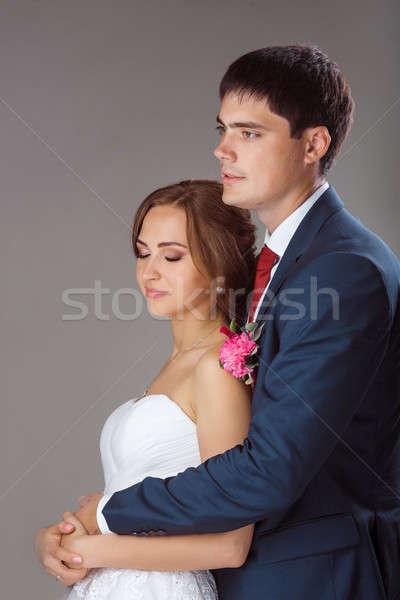 любящий пару Постоянный студию портрет молодые Сток-фото © artfotodima