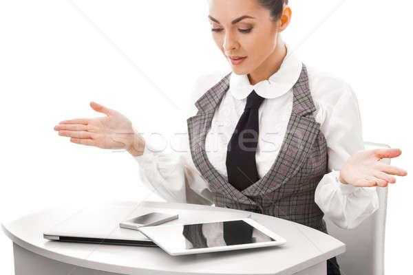 しない 幸せ コンピュータ ユーザー ストックフォト © artfotodima