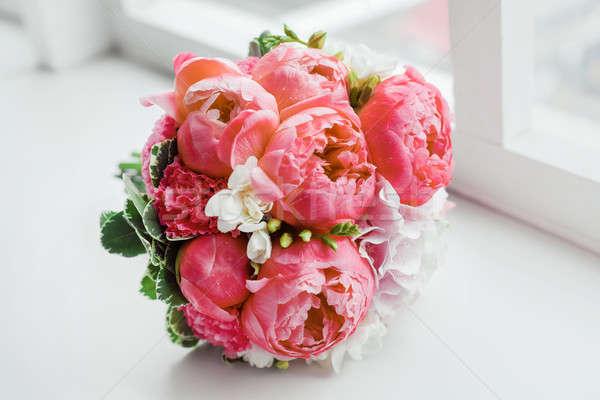 окна невест традиционный символический цветочный Сток-фото © artfotodima