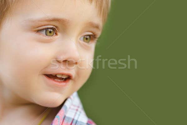 Happy smiling kid outdoor Stock photo © artfotodima