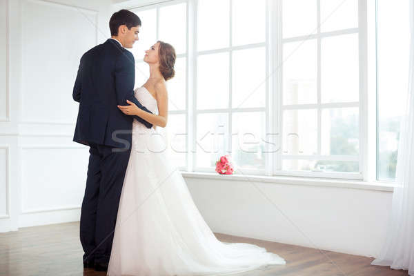 невеста жених ярко комнату свадьба пару Сток-фото © artfotodima