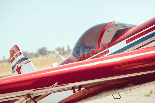 Cabina pequeño deportes avión aire libre Foto stock © artfotodima