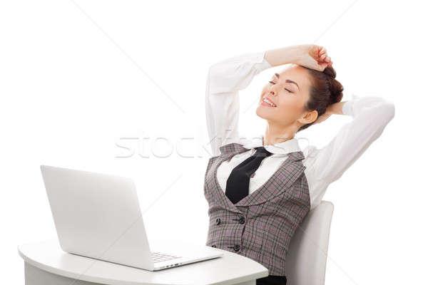Pracy kobieta interesu pracy młodych atrakcyjna kobieta nowoczesne Zdjęcia stock © artfotodima