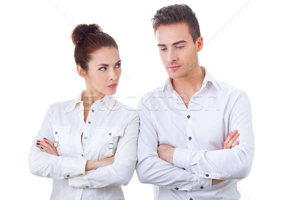 Couple in divorce crisis Stock photo © artfotodima