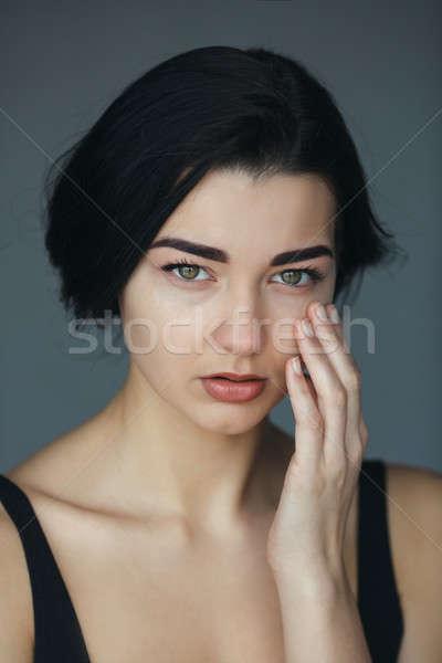 Beautiful woman crying Stock photo © artfotodima