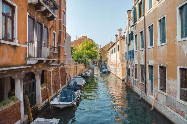 ストックフォト: ヴェネツィア · 美しい · ロマンチックな · イタリア語 · 市 · 海