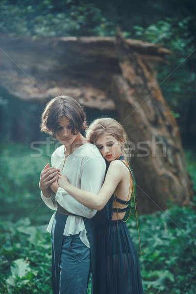 Amor aire libre forestales roto Foto stock © artfotodima