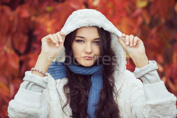 Infelice autunno donna moda modello ritratto Foto d'archivio © artfotodima