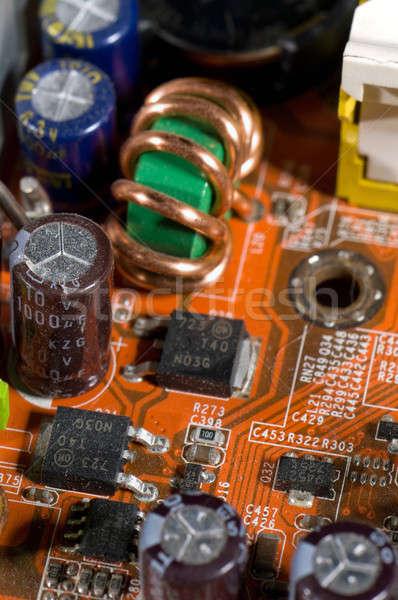 Elektomos áramkör eszközök személyi számítógép terv technológia Stock fotó © artfotoss