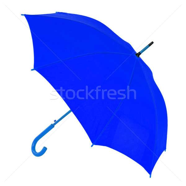 Escuro azul guarda-chuva branco isolado Foto stock © artfotoss