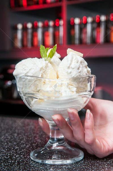 glass of ice-cream Stock photo © artfotoss