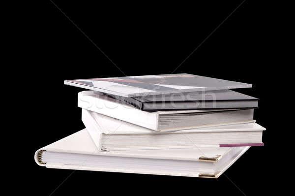 Verschillend boeken zwarte school Rood bibliotheek Stockfoto © artfotoss