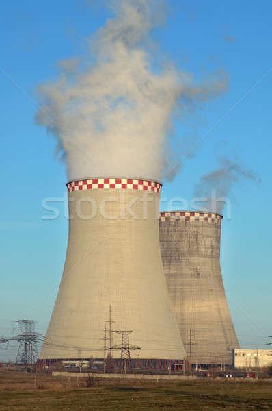 Erőmű tájkép füst gyár tudomány energia Stock fotó © artfotoss