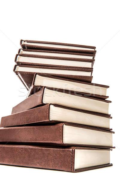 Köteg öreg könyvek izolált fehér nagy Stock fotó © artfotoss