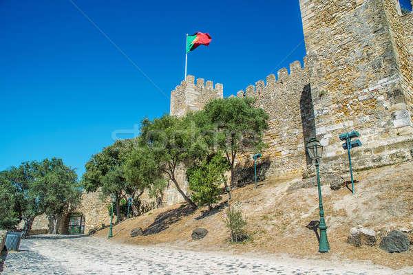 Castle Sao Jorge in Lisbon, Portugal Stock photo © artfotoss