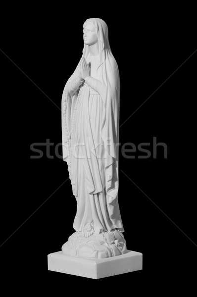 white stone statue of saint Mary Stock photo © artfotoss