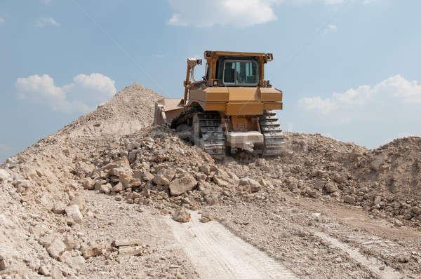 Gép kő karrier építkezés doboz ipar Stock fotó © artfotoss