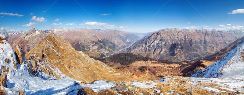 Landschap kaukasus regio Rusland noorden sport Stockfoto © artfotoss
