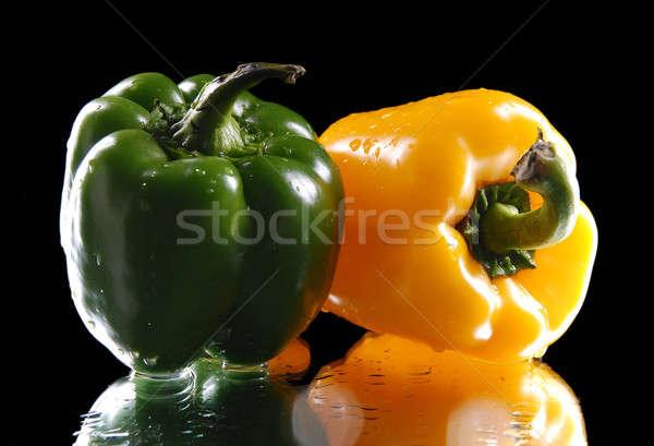 緑 黄色 甘い 唐辛子 黒 野菜 ストックフォト © artfotoss