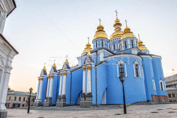 St. Michael's Golden-Domed Monastery - famous church in Kyiv, Uk Stock photo © artfotoss