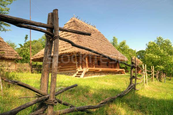 old wooden house Stock photo © artfotoss