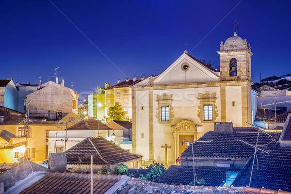 Cathédrale Portugal belle vue district Photo stock © artfotoss