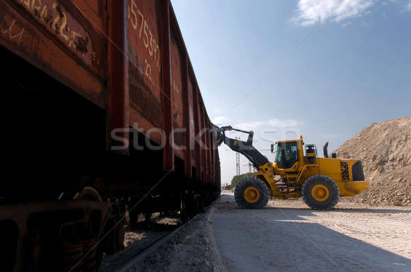 excavator loads gravel Stock photo © artfotoss