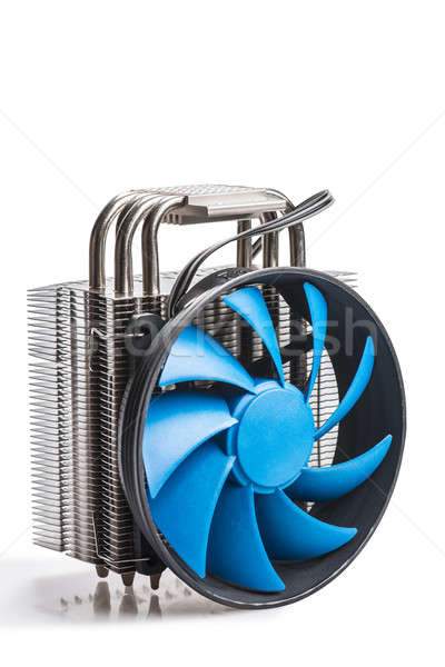 CPU cooler isolated on a white background Stock photo © artfotoss