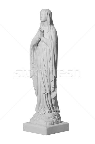 Fehér kő szobor szent vallásos fiatal nő Stock fotó © artfotoss