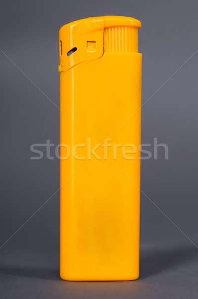 желтый легче изолированный серый пластиковых свет Сток-фото © artfotoss