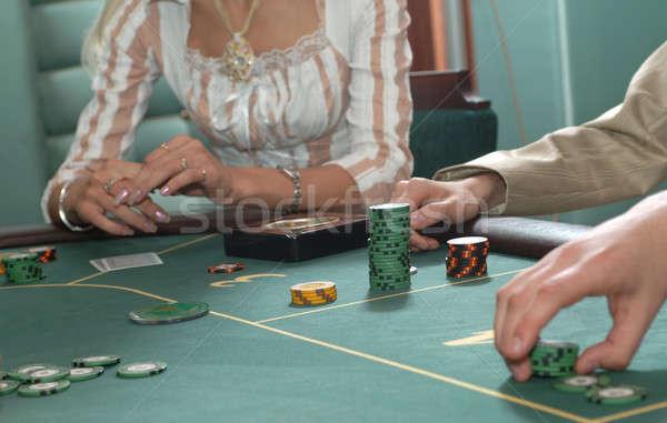 Tabela terno clube cassino cartões masculino Foto stock © artfotoss