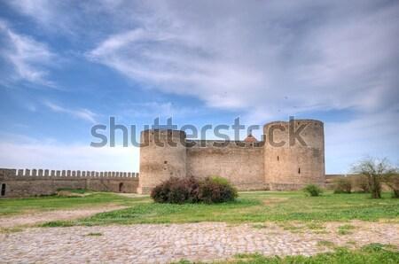 Stock fotó: Középkori · erőd · Ukrajna · ősi · égbolt · épület