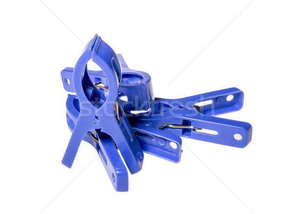 many blue clothespeg Stock photo © artfotoss