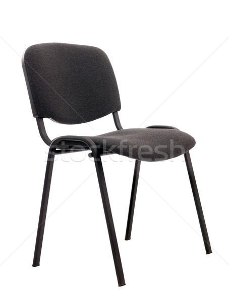 Cadeira isolado preto projeto mobiliário branco Foto stock © artfotoss