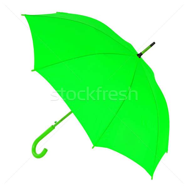 green umbrella on a white background Stock photo © artfotoss